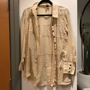 Free people We The Free button up lace top